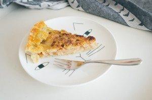 протеиновый пирог с яблоками