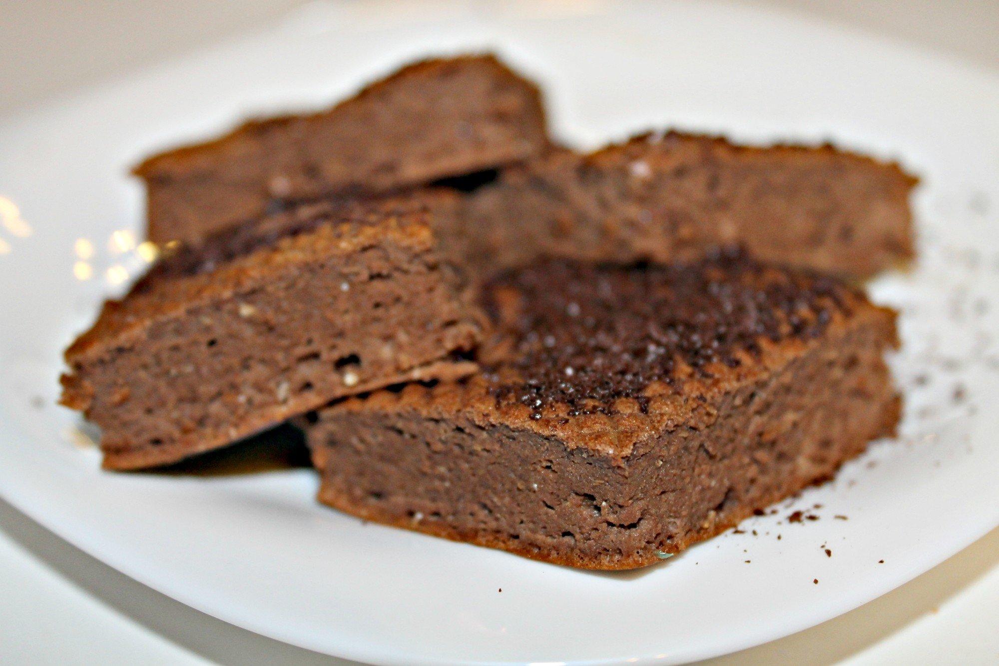 Шоколадно-кофейные брауни с протеином