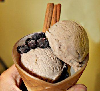 Протеиновое мороженое с ромом и изюмом