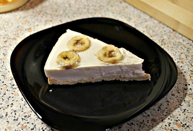 протеиновый чизкейк с бананом