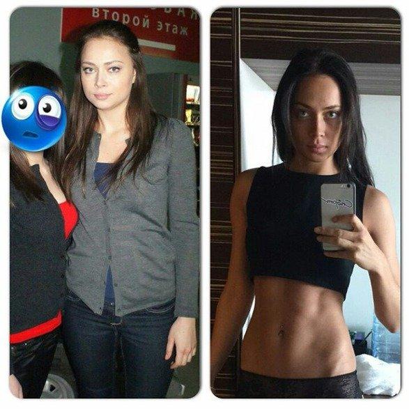 Самбурская: до и после. instagra,.com/samburskaya_fun