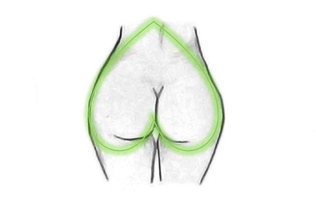 Женские жопы сердечком