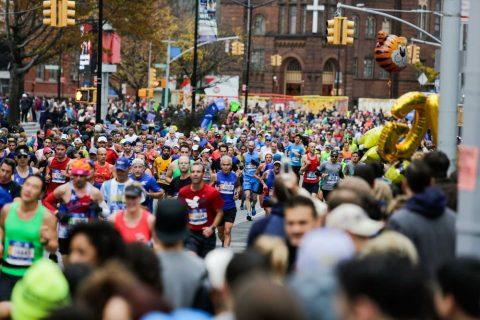Бегуны марафонской дистанции