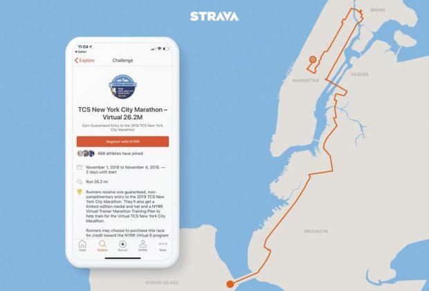 Марафон для энтузиастов с помощью приложения Strava