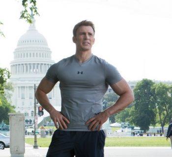 Крис Эванс в роли Капитана Америки