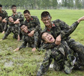 Тренировка в армии