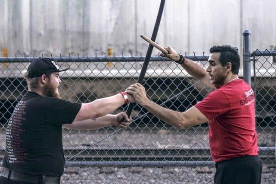 Тренировка с катаной