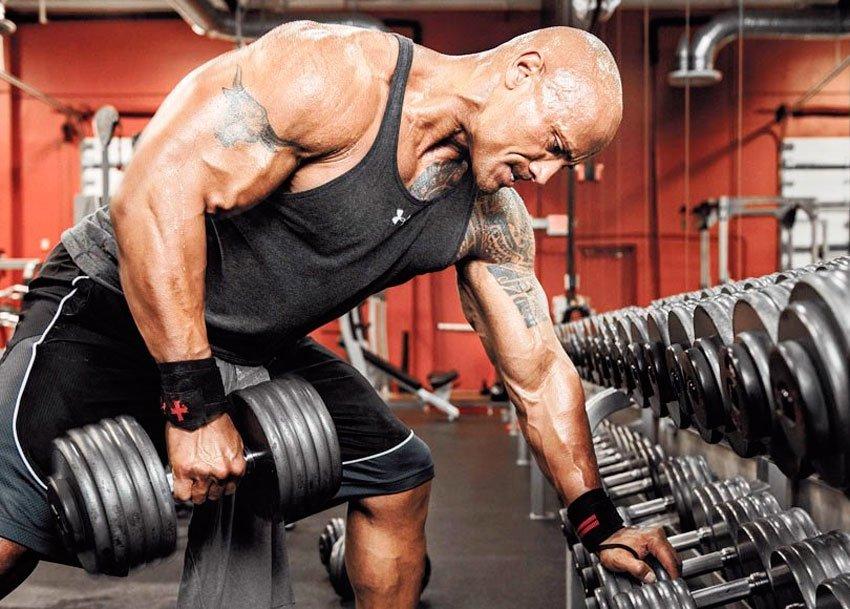 Тяга гантели в наклоне. • Bodybuilding & Fitness
