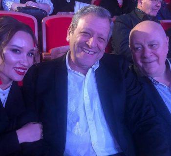 Борис Грачевский с женой и Аркадием Ининым