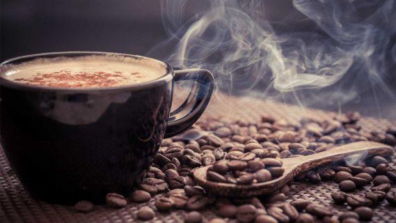 Чашка и зёрна кофе