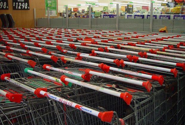 Тележки в супермаркете