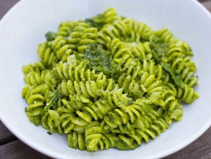 Зеленые макароны