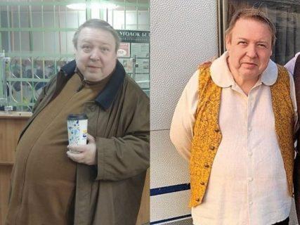 Александр Семчев до похудения и сейчас