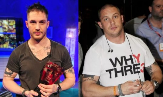 Том Харди до и после тренировок