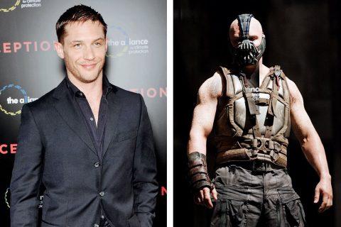 Том Харди до и после съёмок «Тёмного рыцаря»