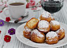 Тарелка с пончиками