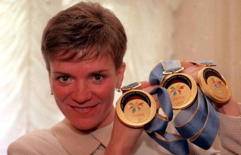 Лариса Лазутина с медалями