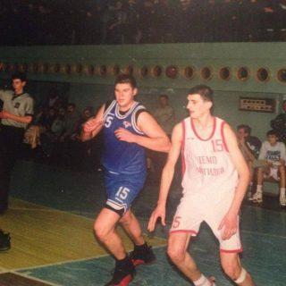 Андрей Свиридов на баскетболе