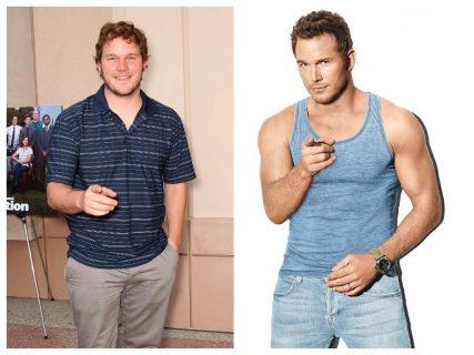 Крис Пратт до и после похудения