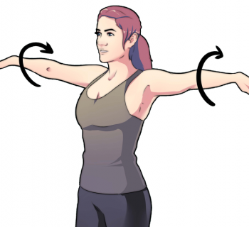 Девушка выполняет упражнение для рук