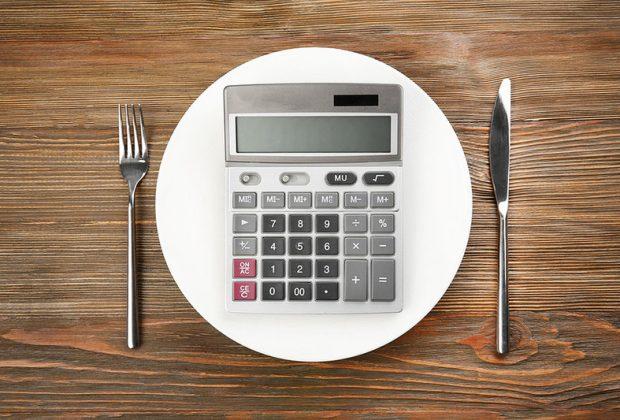Калькулятор на тарелке