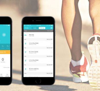 Скриншоты фитнес-приложения