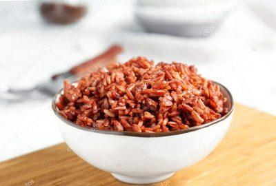 Тарелка красного риса