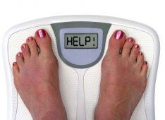 Ноги на напольных весах