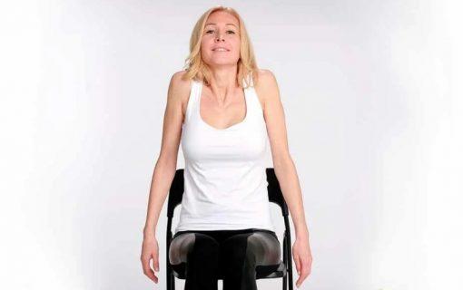 Упражнение для похудения шеи