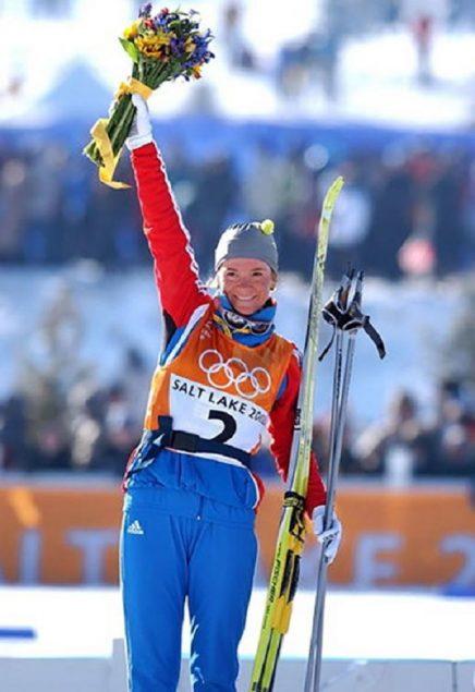 Лыжница Лариса Лазутина
