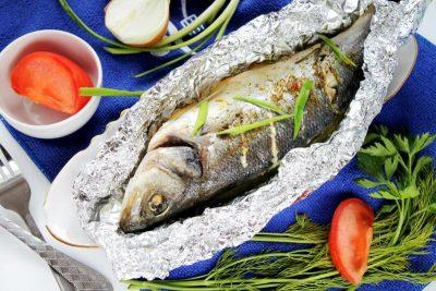 Рыба в фольге для запекания