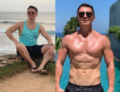 Тимур Батрутдинов до и после тренировок