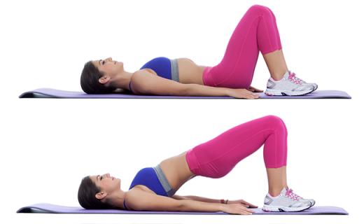 Техника выполнения упражнения «ягодичный мостик»