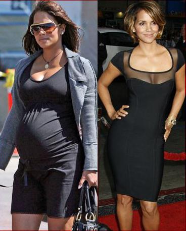 холли берри до и после родов