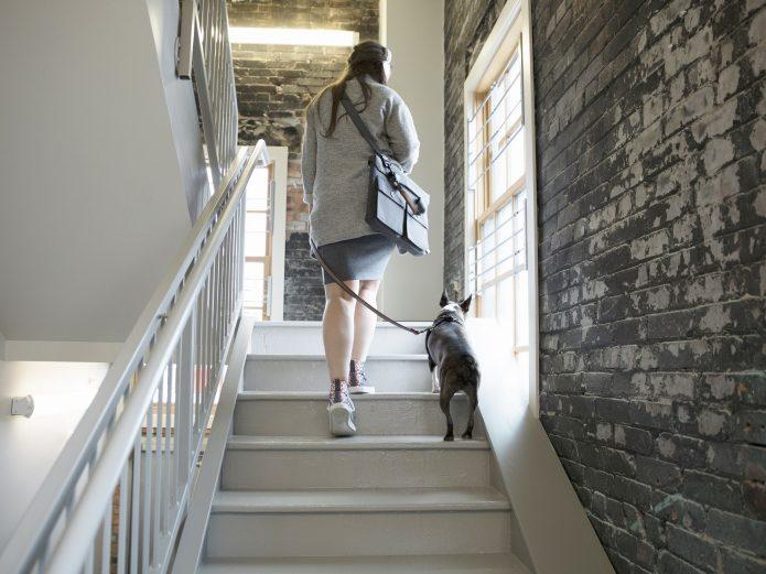 Ходить по лестнице в доме