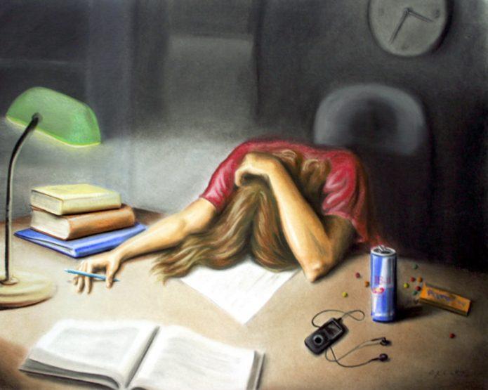 Усталость рисунок