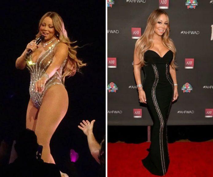 мэрайя кэри до и после похудения