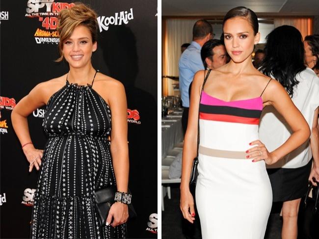 джессика альба до и после похудения