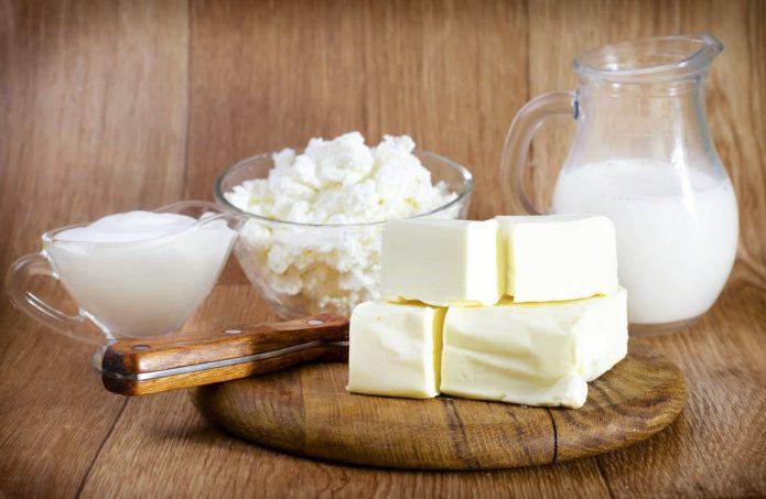 Жирные молочные изделия