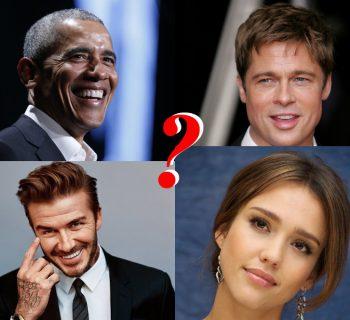 Обама, Питт, Бекхэм, Альба