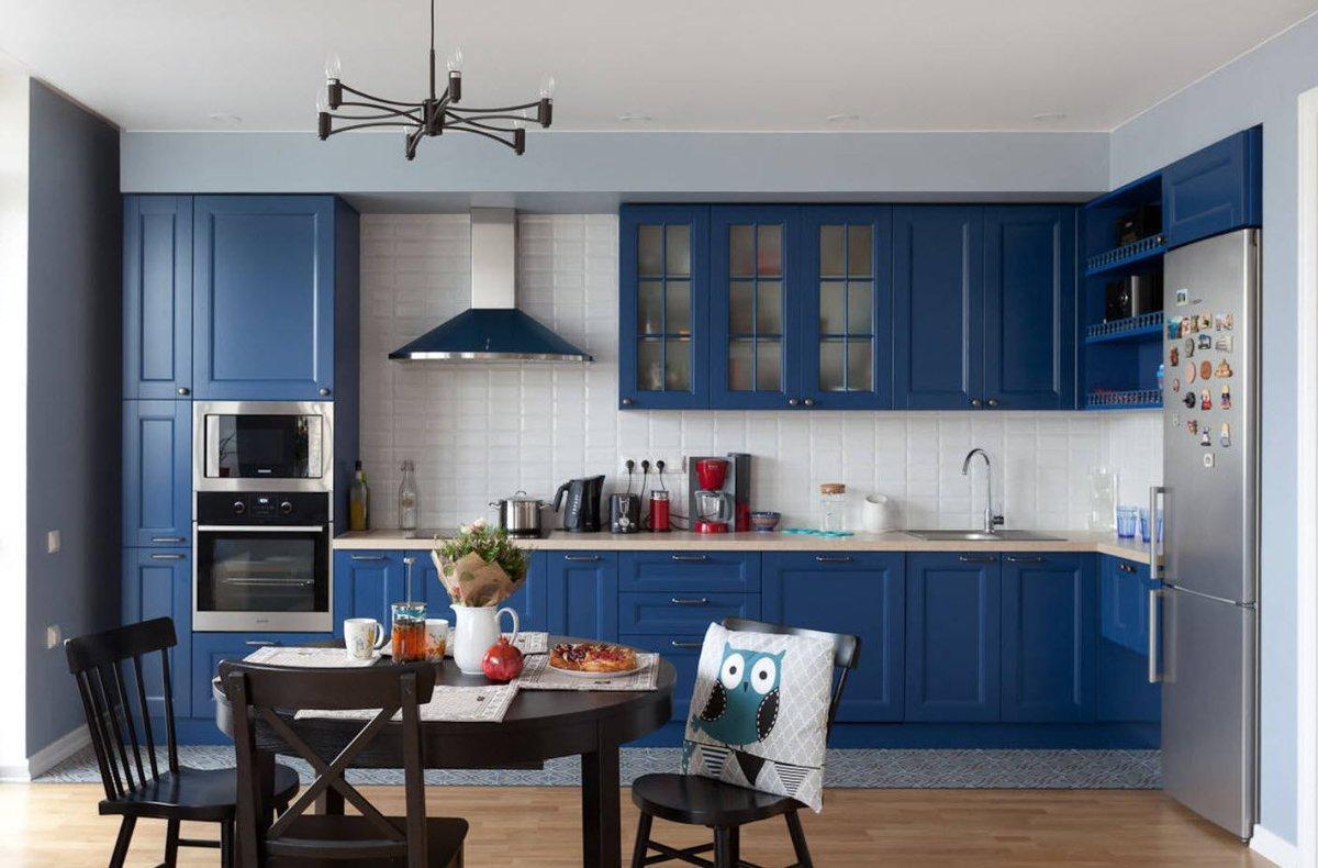 Кухня сине голубая картинки