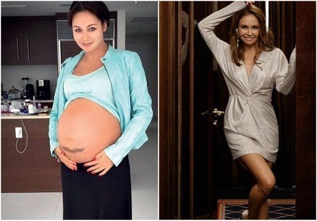 ляйсан утяшева до и после беременности