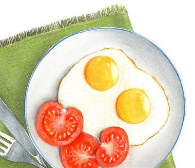 Завтрак рисунок