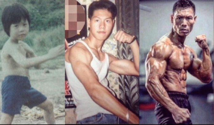 Сын Боло Йенга в детстве и сейчас