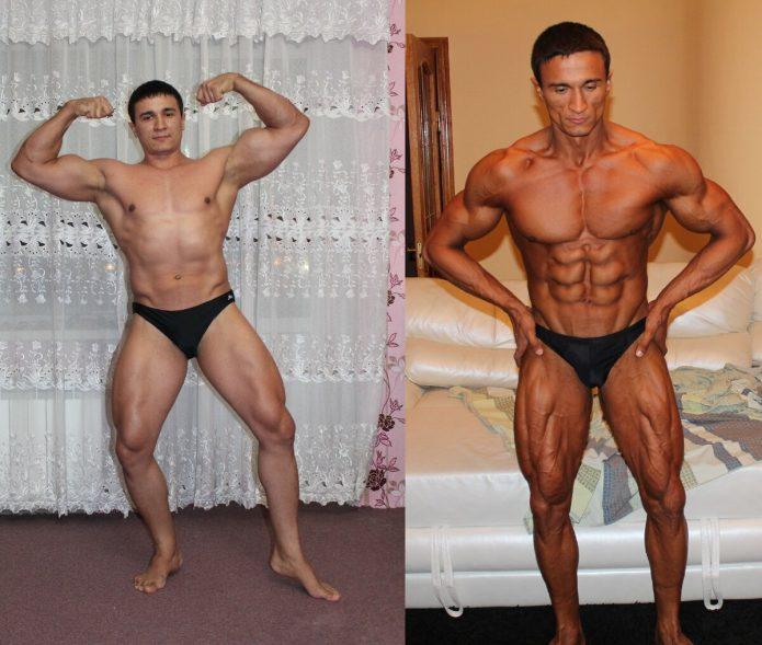 спортсмен на массе и на сушке фото