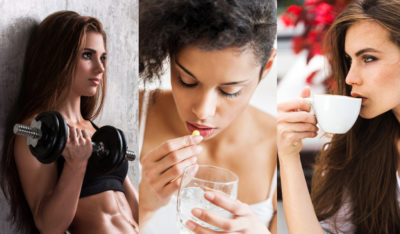 Тренироваться пить лекарства и пить кофе
