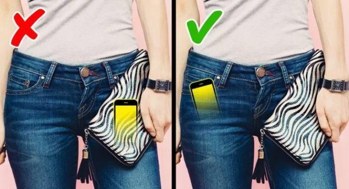 Не носить телефон в сумочке