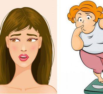 Выпадение волос и набор веса
