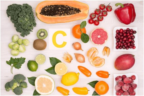 Таблица содержания в продуктах витамина C